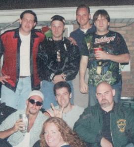 Top Row: Me, Pete, Rob, ScottBottom Row: John, Trish (Steve's Sister), Steve, and Grey Jim